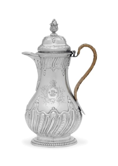 A GEORGE III SILVER COFFEE JUG