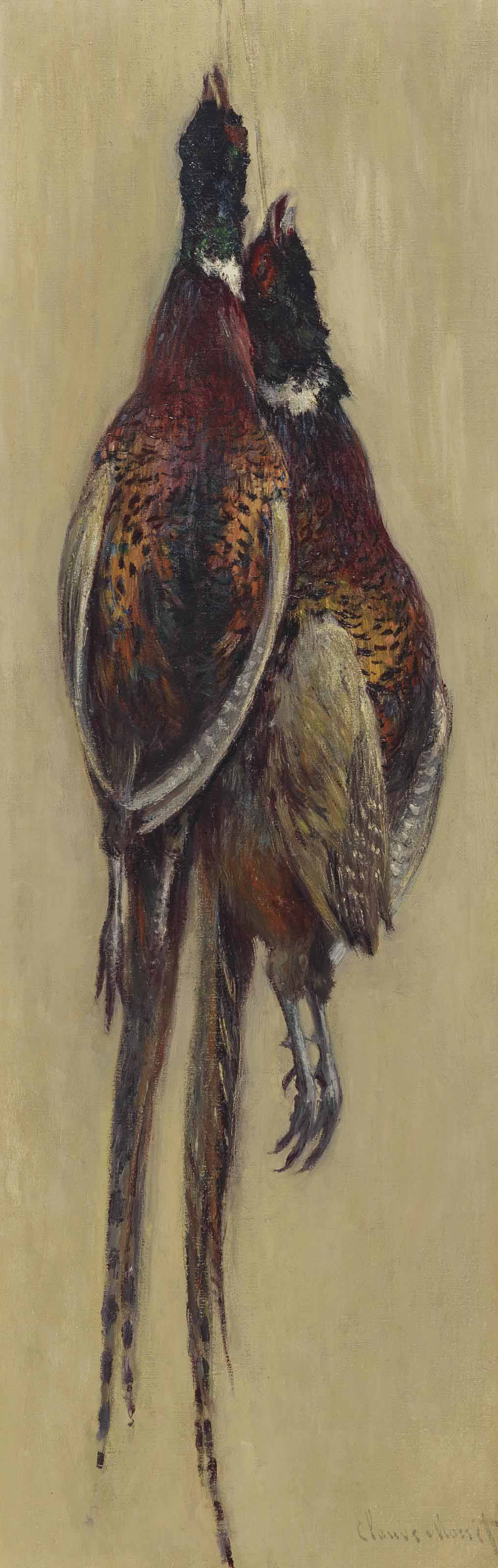 Claude Monet (1840-1926) | Faisans suspendus | 19th Century, Paintings |  Christie's