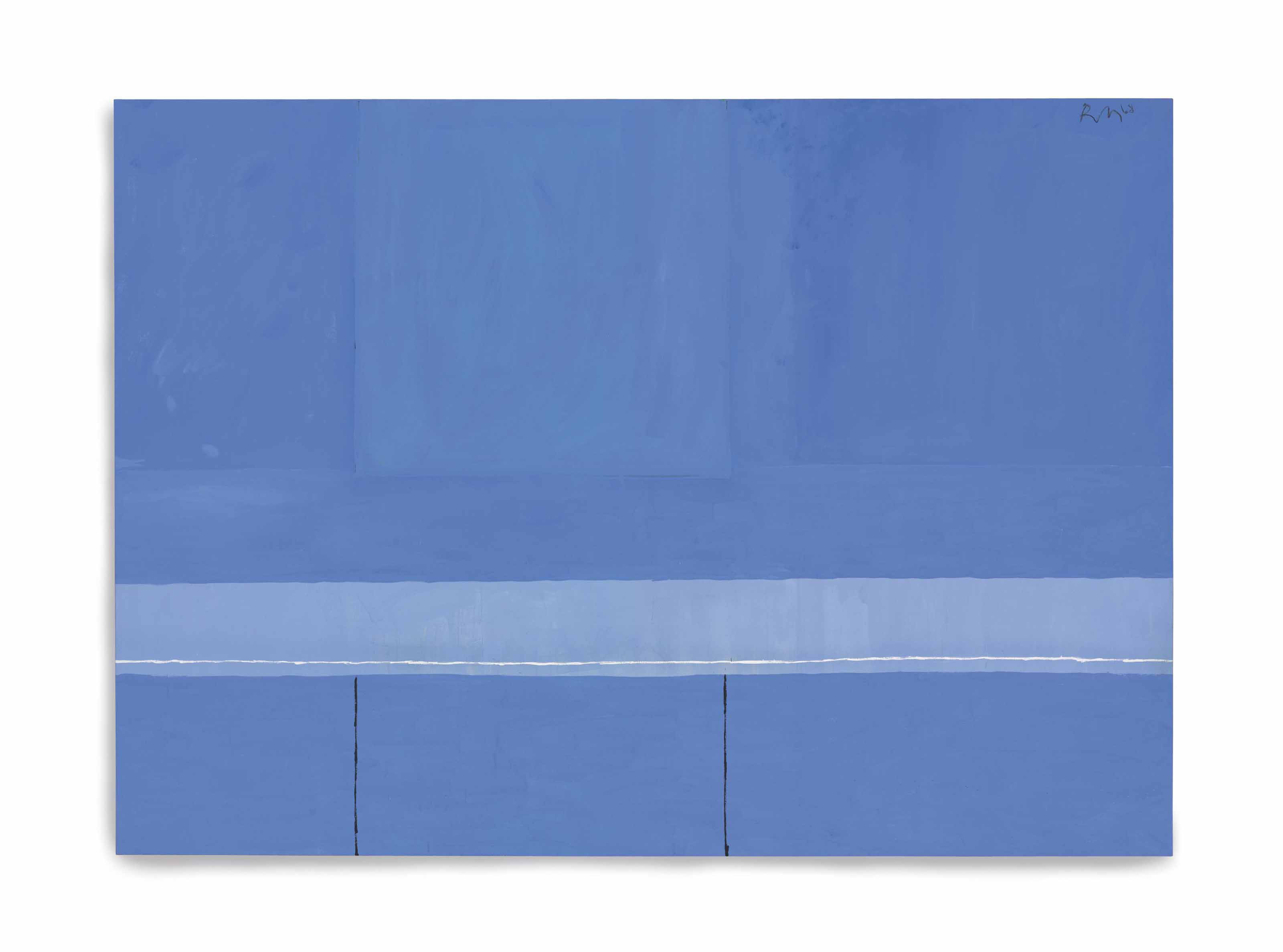 Open No. 23: In Blue with Variations of Ultramarine