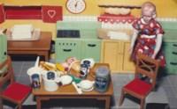 Blonde/Red Dress/Kitchen