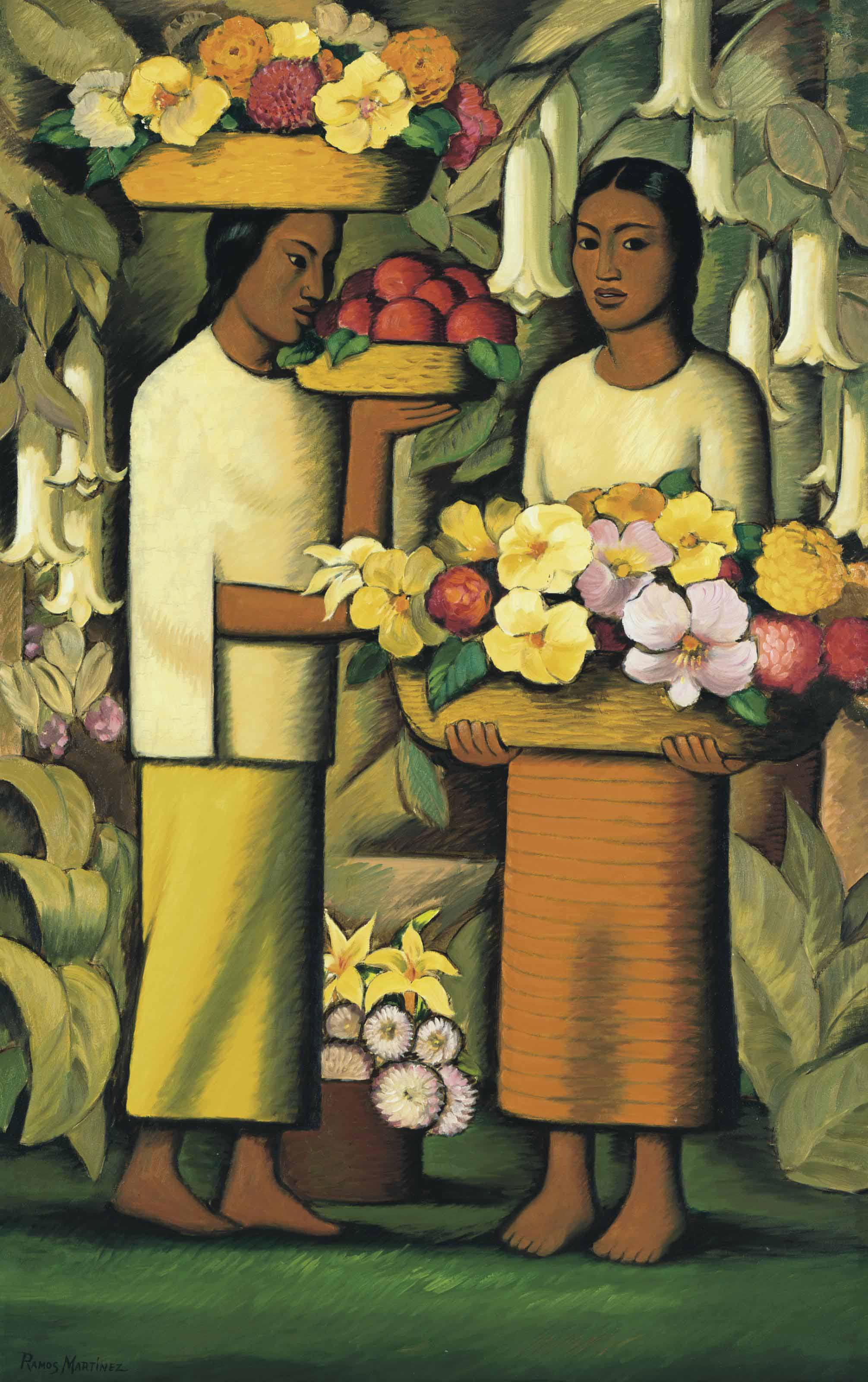 Alfredo Ramos Martínez Mexican 1872 1946 Mujeres Con Flores