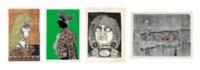 Four xilocollages by Antonio Berni