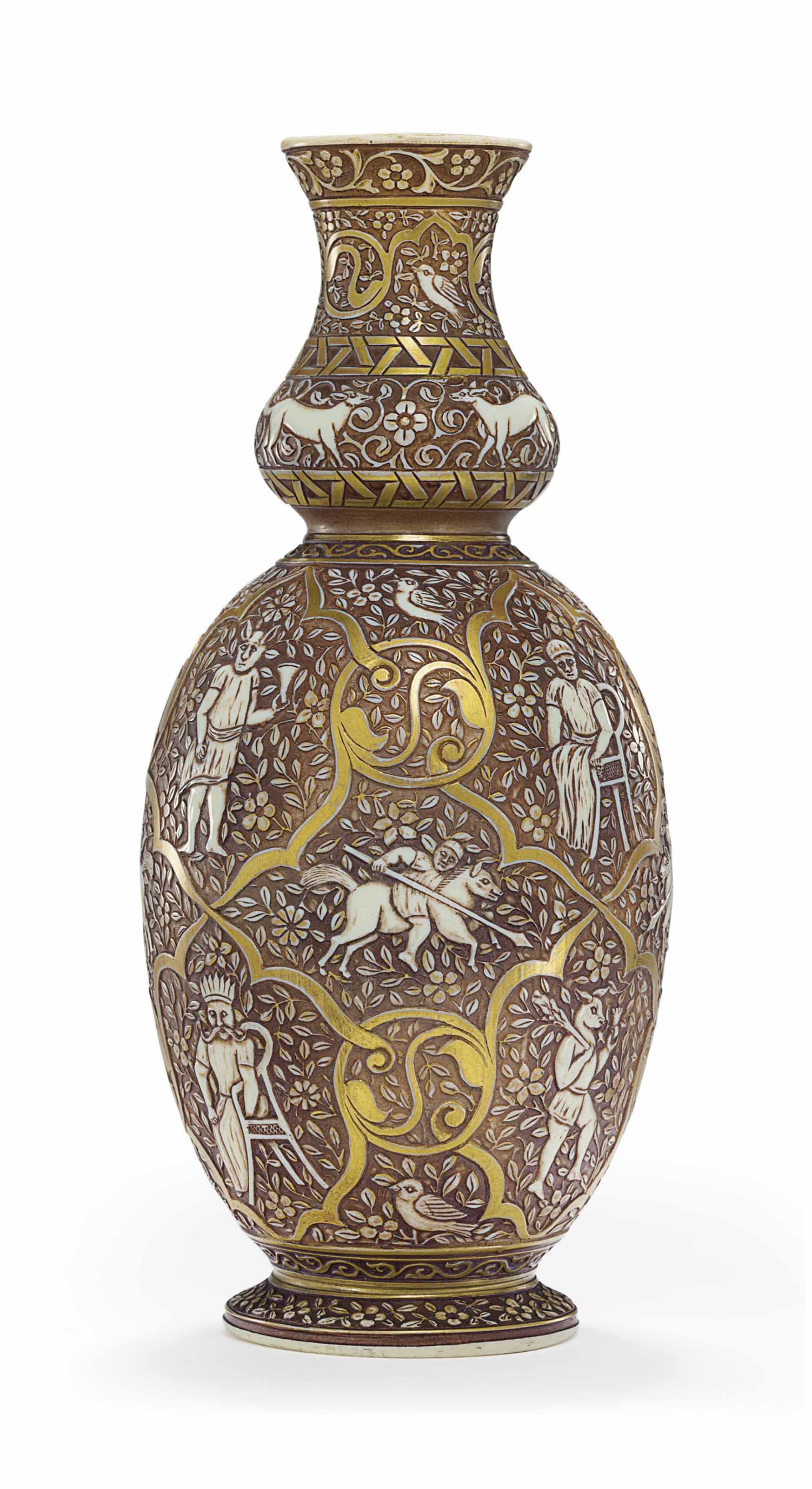 A THOMAS WEBB & SONS CAMEO GLASS VASE