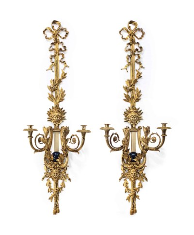 A LARGE PAIR OF FRENCH ORMOLU