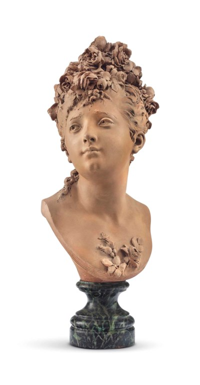 A FRENCH TERRACOTTA BUST