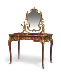 A FRENCH ORMOLU-MOUNTED KINGWOOD AND MARQUETRY COIFFEUSE