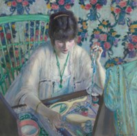 La Poudreuse (Woman Selecting a Necklace)