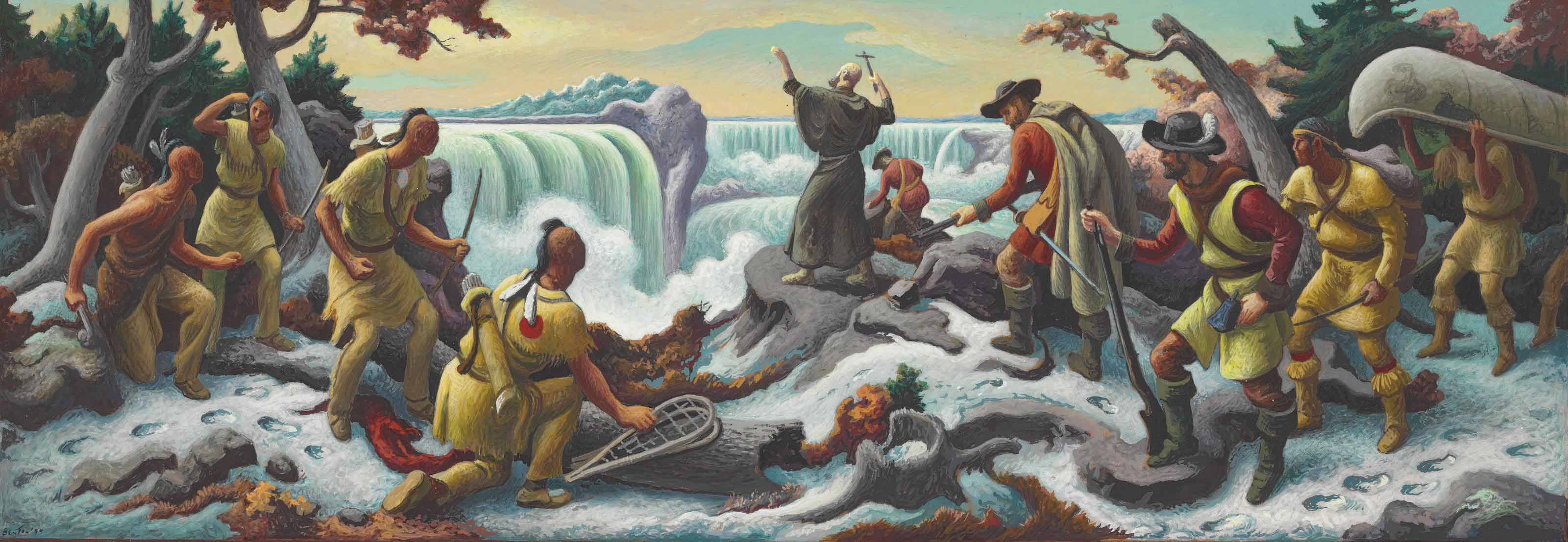 Study for Father Hennepin at Niagara Falls