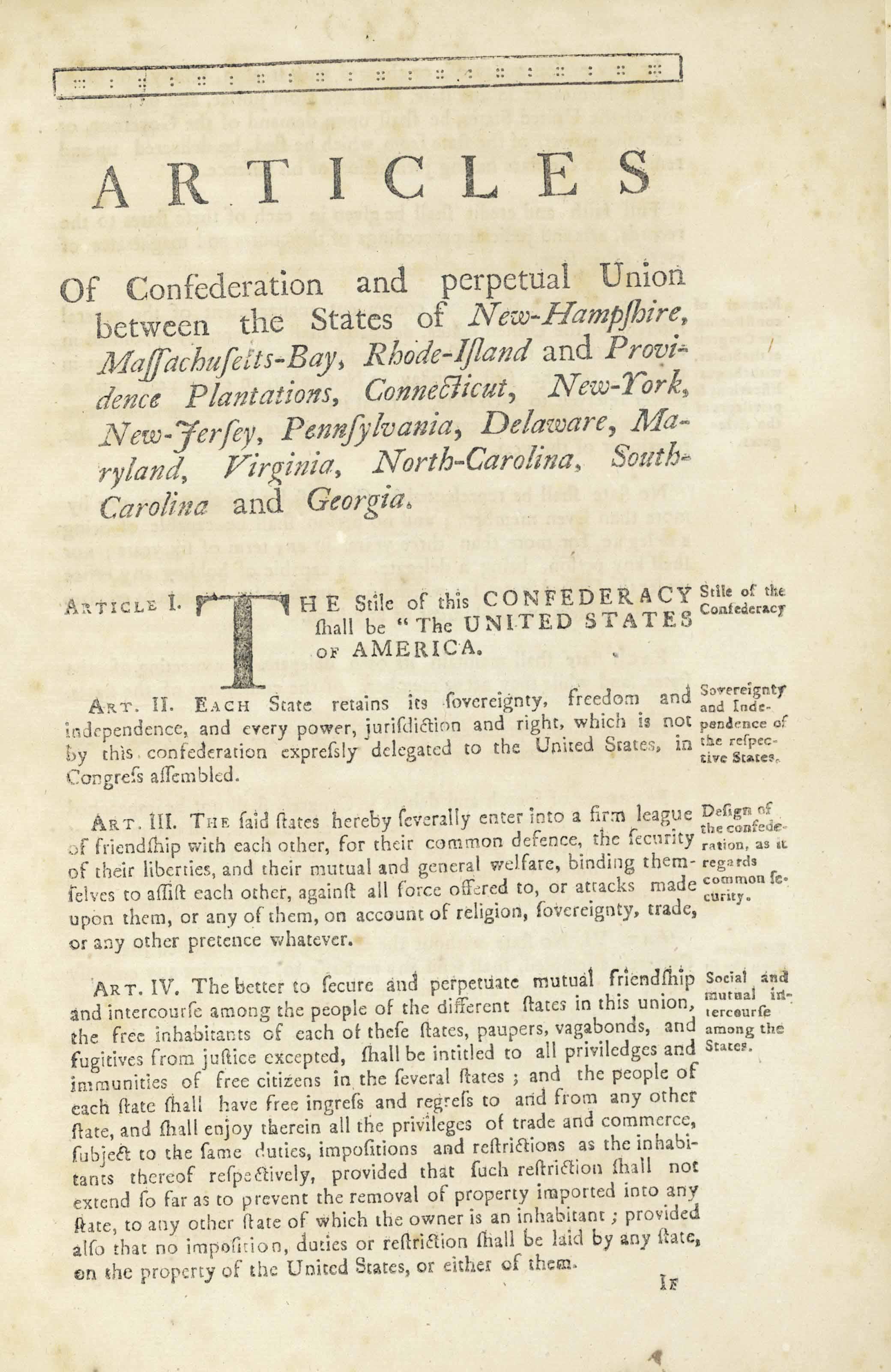 ushistory articles of confederation