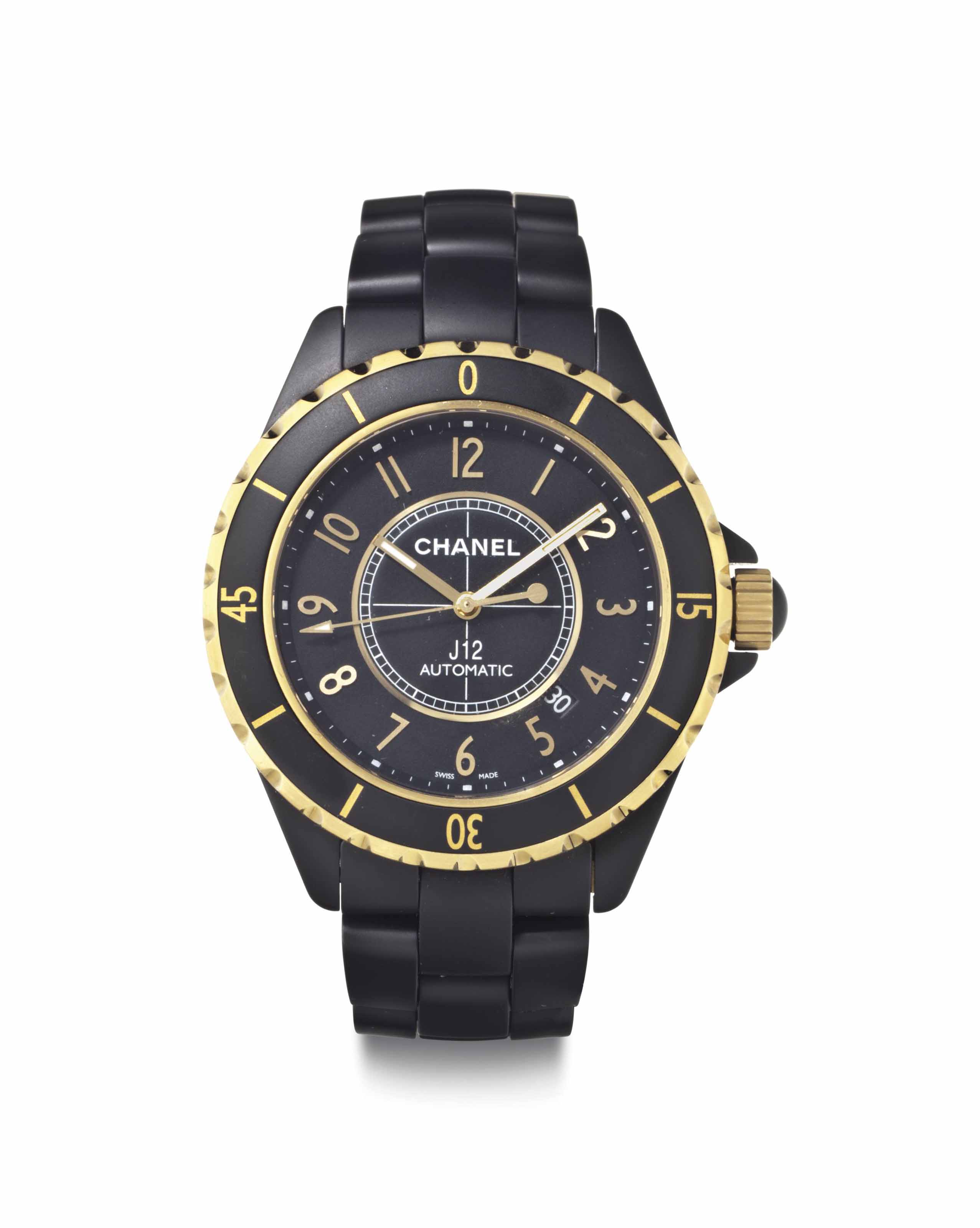 Chanel. An 18k Gold and Cerami