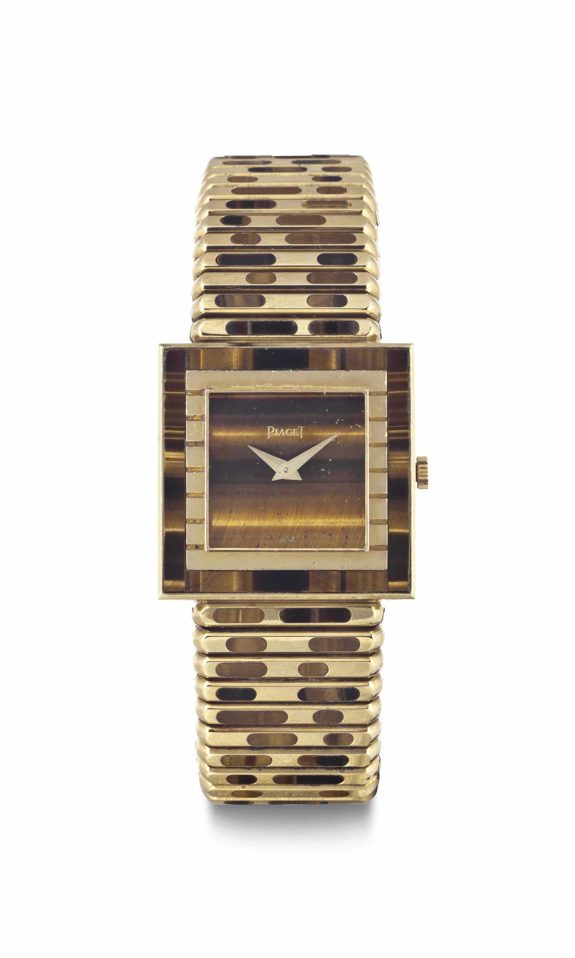 Piaget. A Rare 18k Gold Square