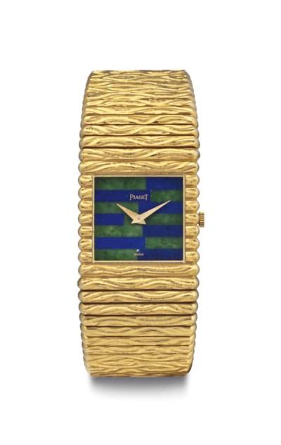 Piaget. A Fine 18k Gold, Lapis