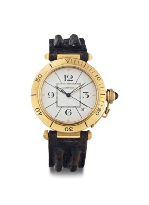 Cartier. An 18k Gold Automatic