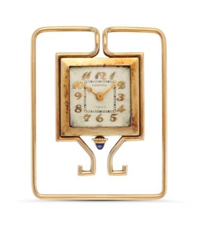 Cartier. A 14k Gold Art Deco M