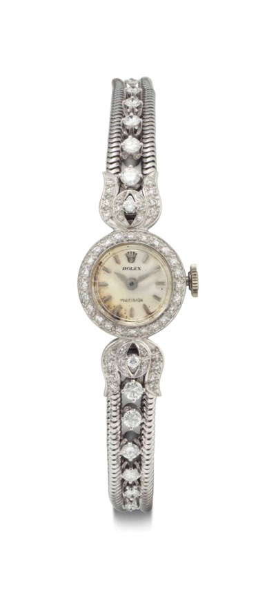 Rolex. A Lady's 18k White Gold