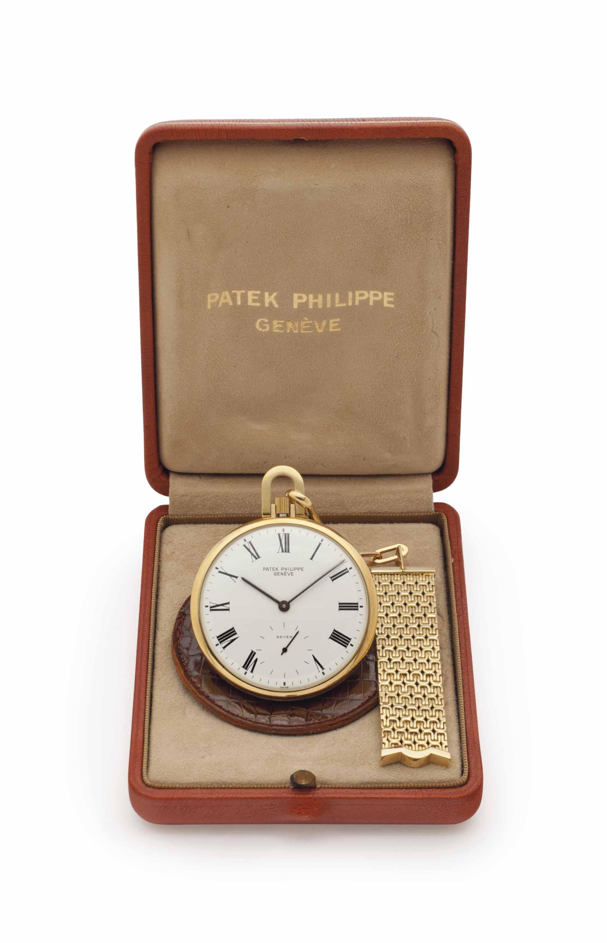 Patek Philippe. An 18k Gold Op