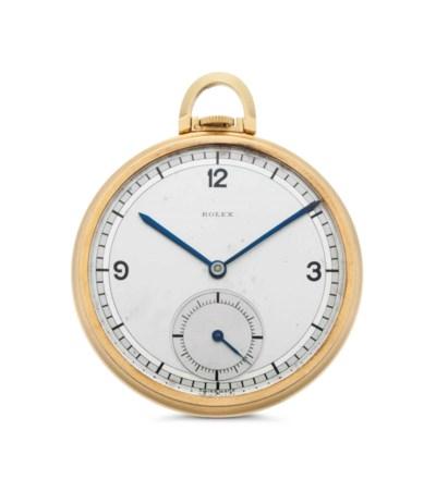 Rolex. An 18k Gold Openface Ke