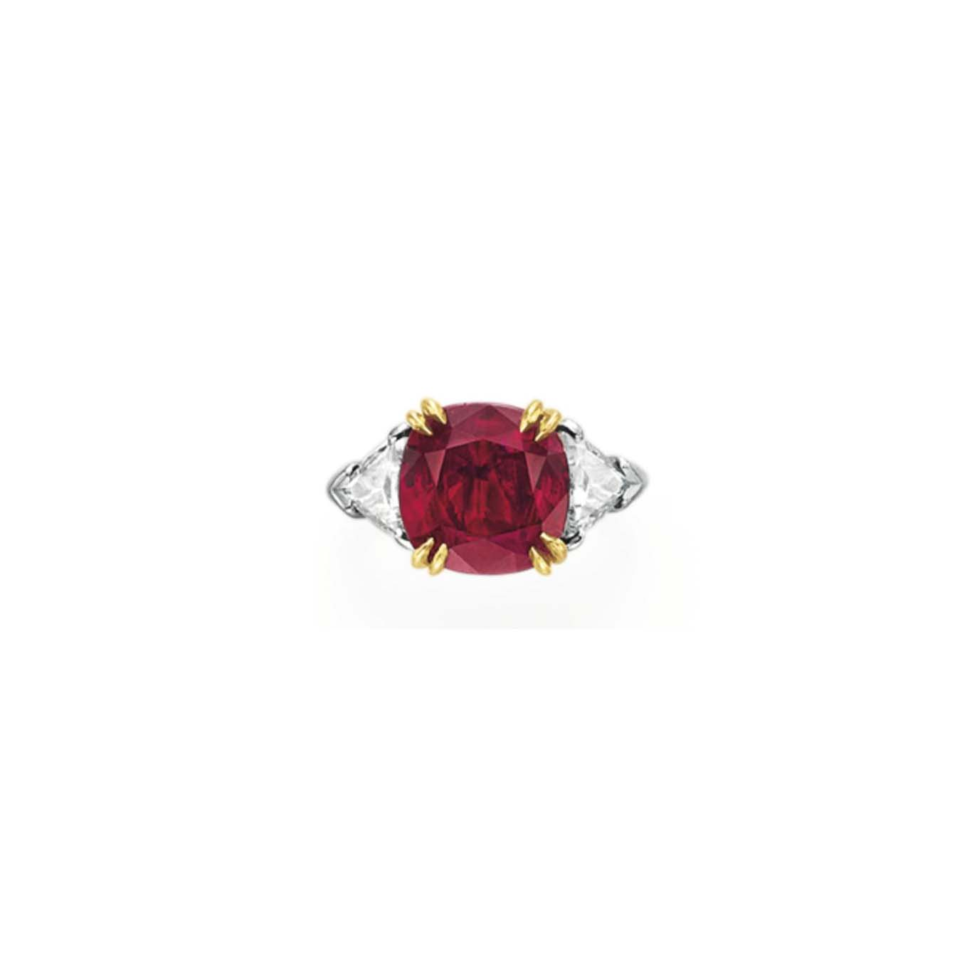 A RUBY AND DIAMOND RING, BY HARRY WINSTON