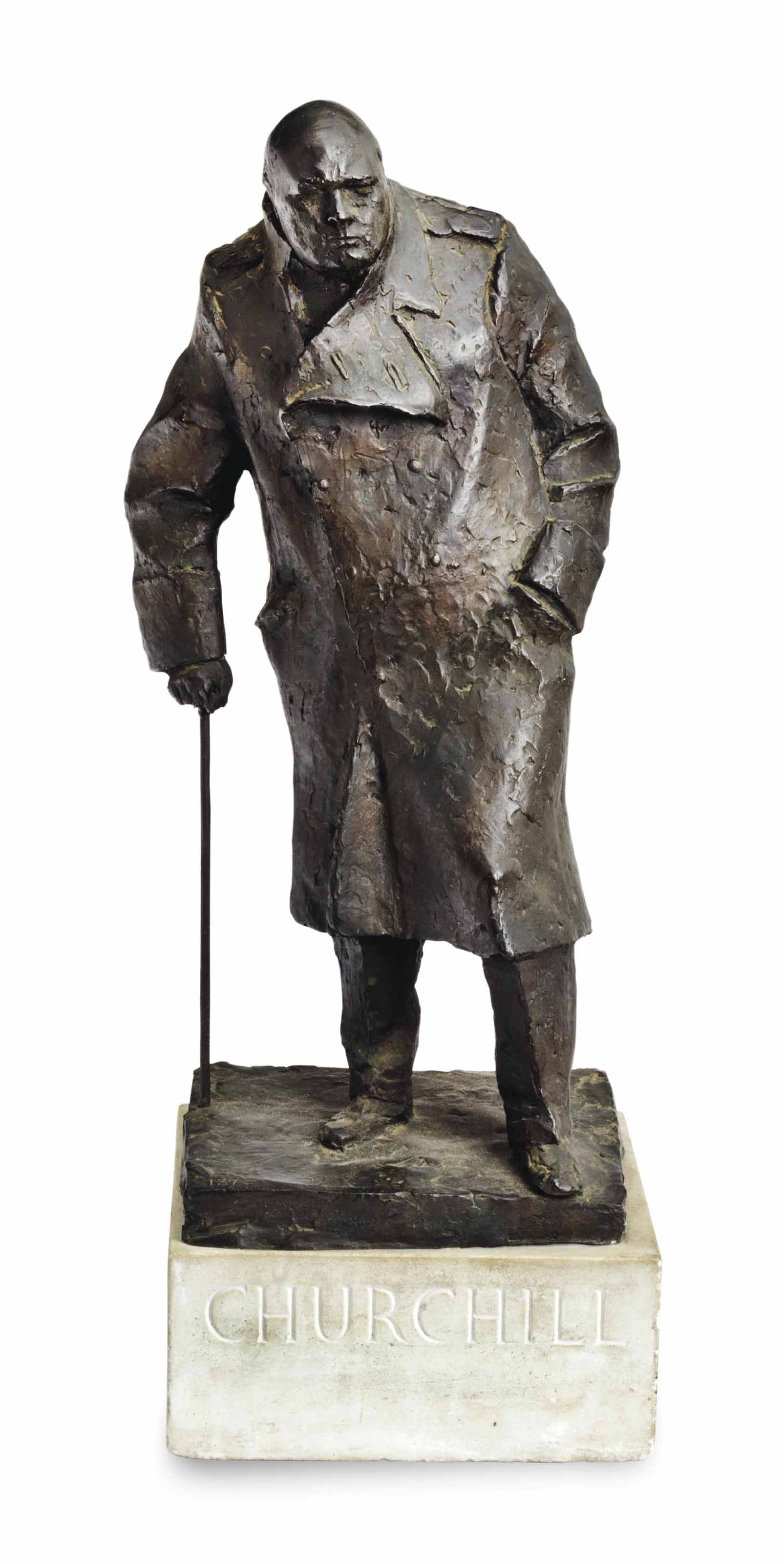 Sir Winston Churchill, maquette for the monument in Parliament Square