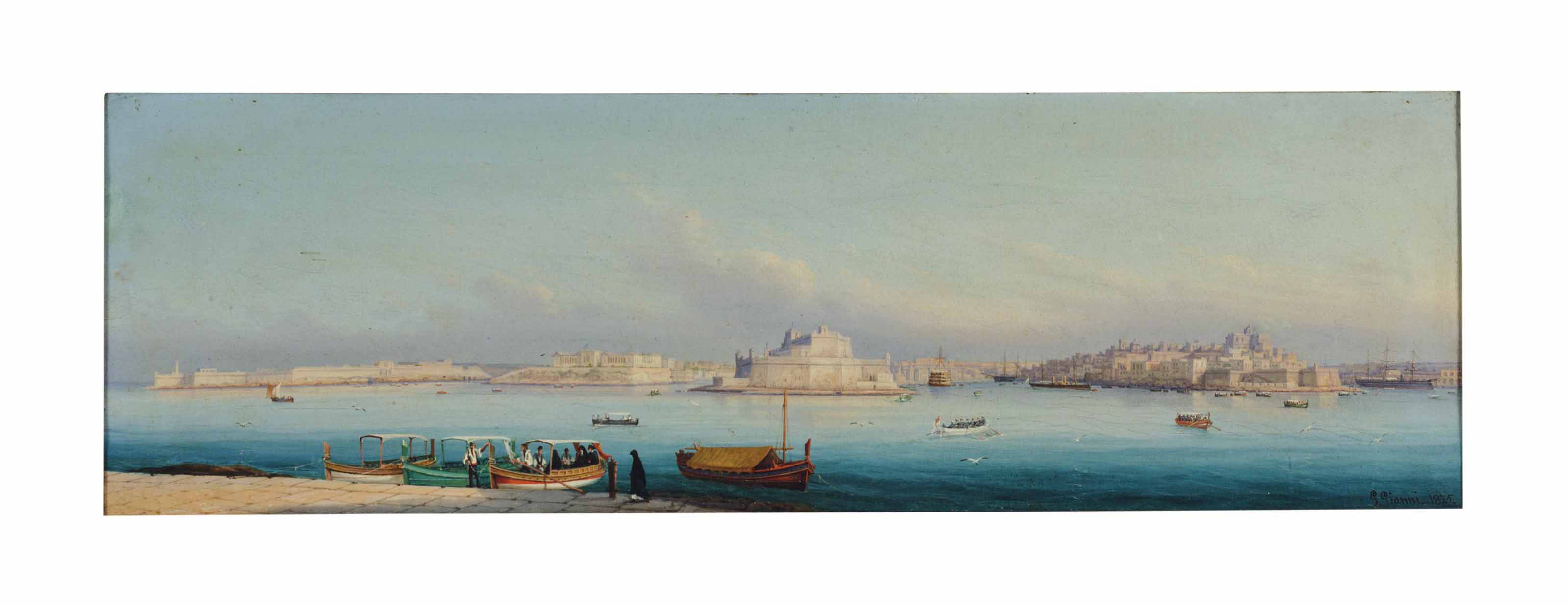 Views of the Grand Harbor, Malta: Two works