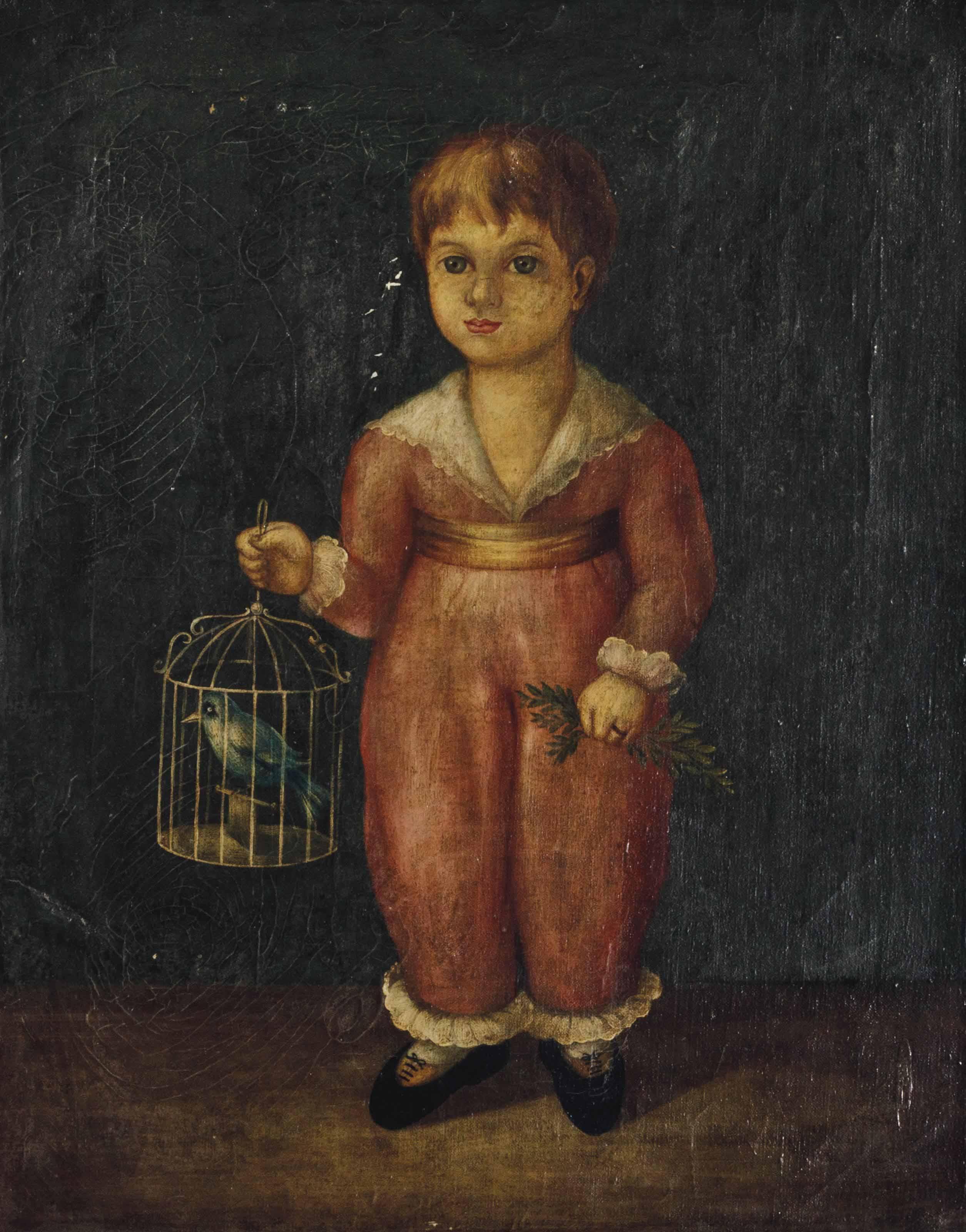 Niño con pájaro