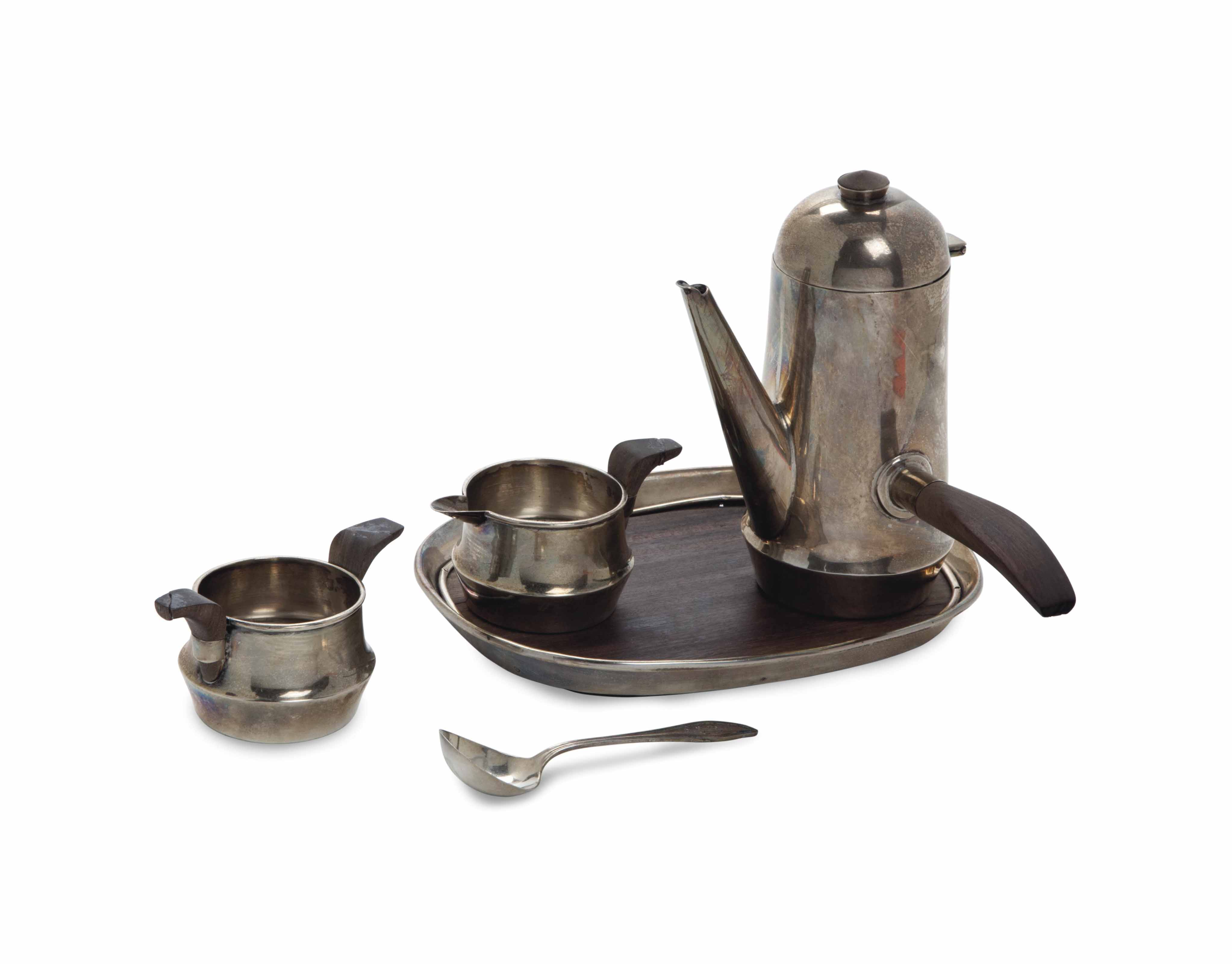A MEXICAN SILVER FOUR-PIECE COFFEE SERVICE,