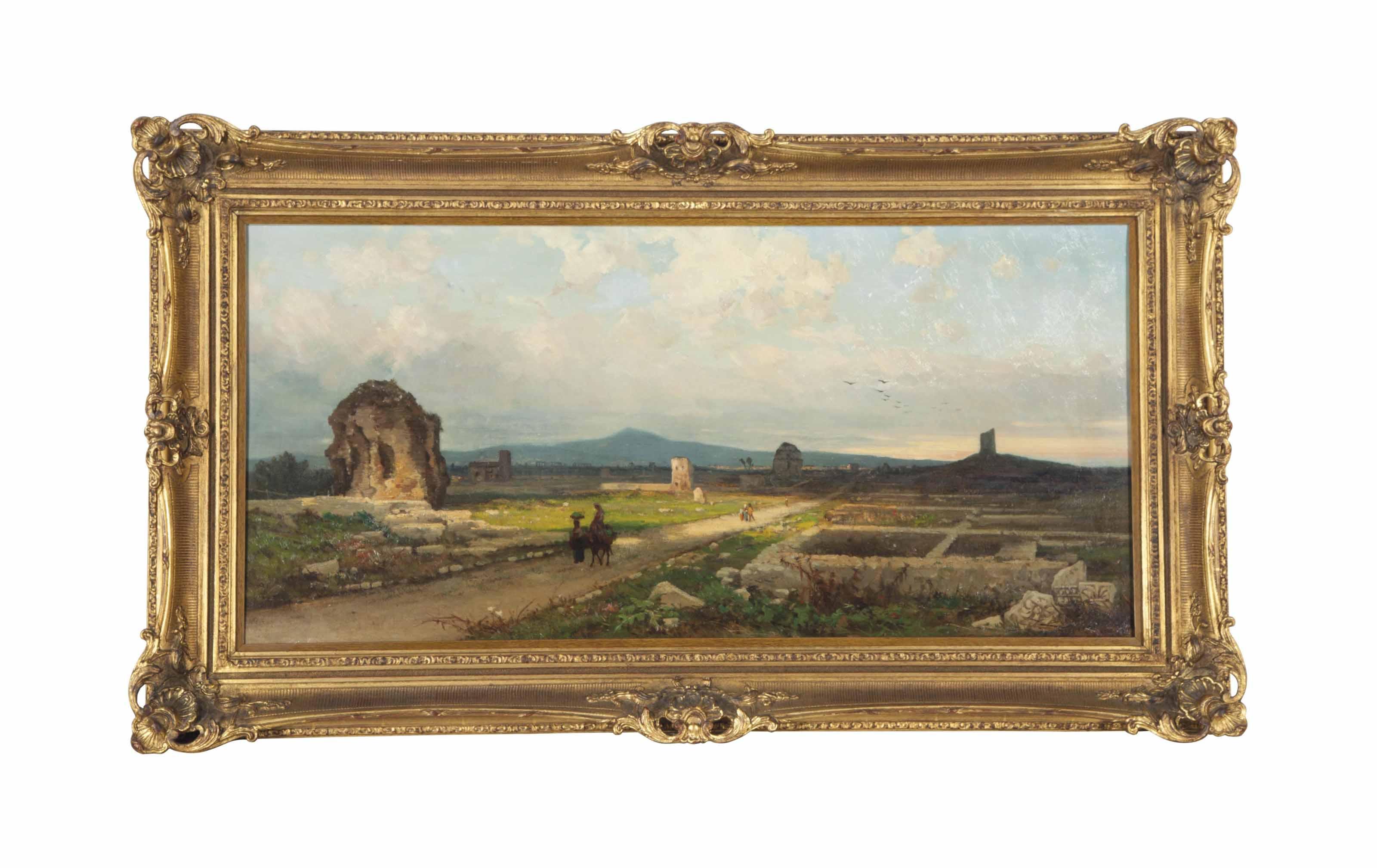 Ruins in an Italian landscape