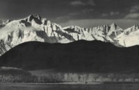 Winter Sunrise, Sierra Nevada from Lone Pine, California, 1941