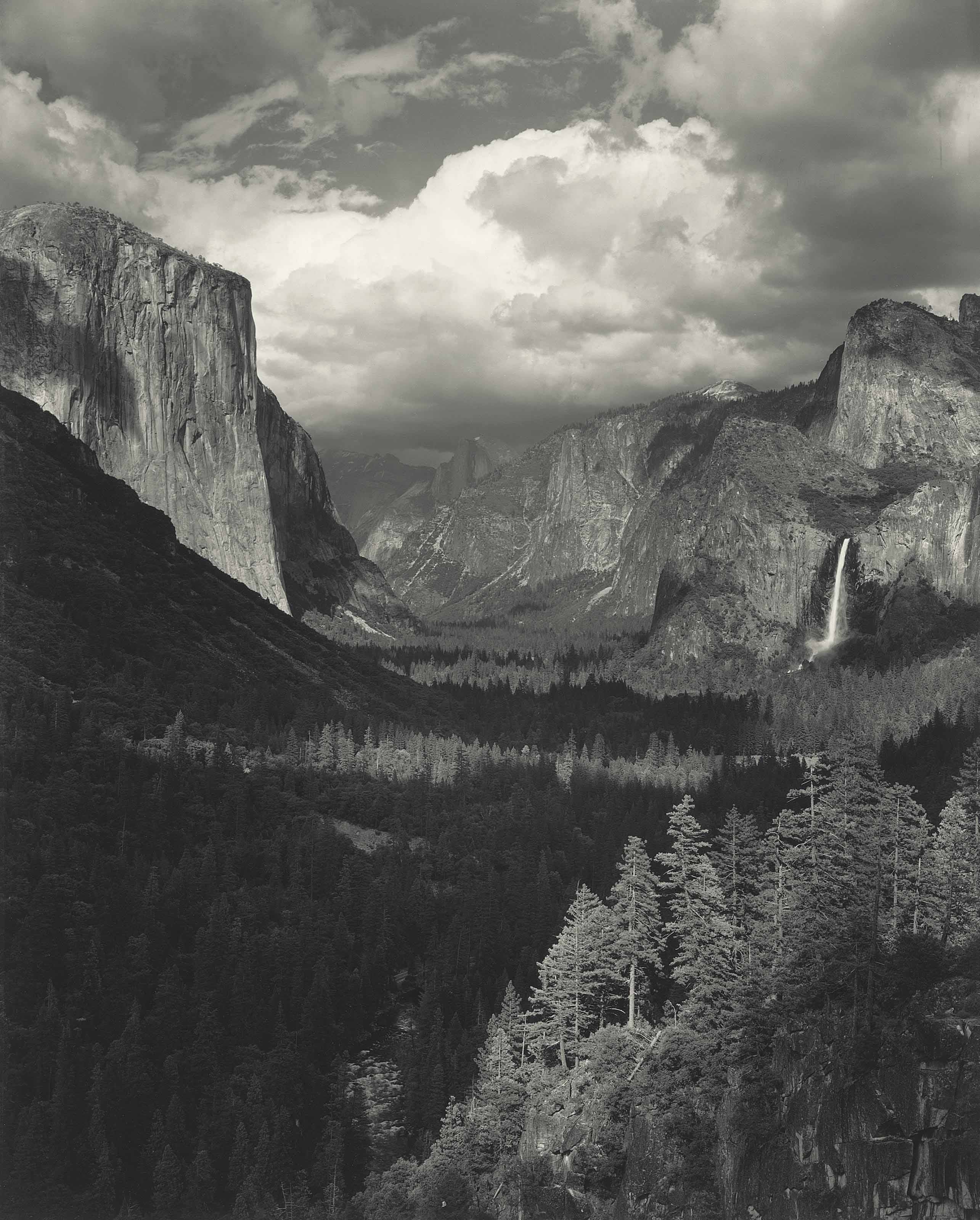 Clouds, Yosemite Valley, 1945