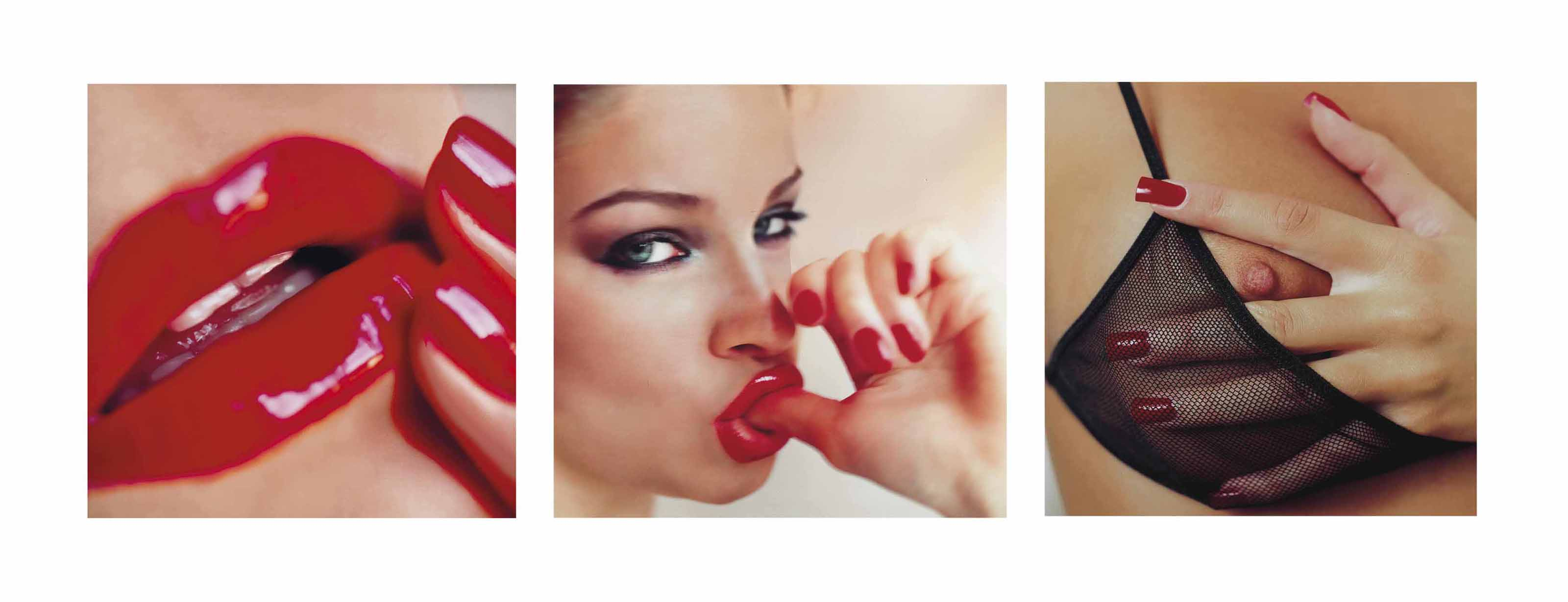 GUIDO ARGENTINI (B. 1966) | Red Lips, Red Nails and Olga Sucking Her ...