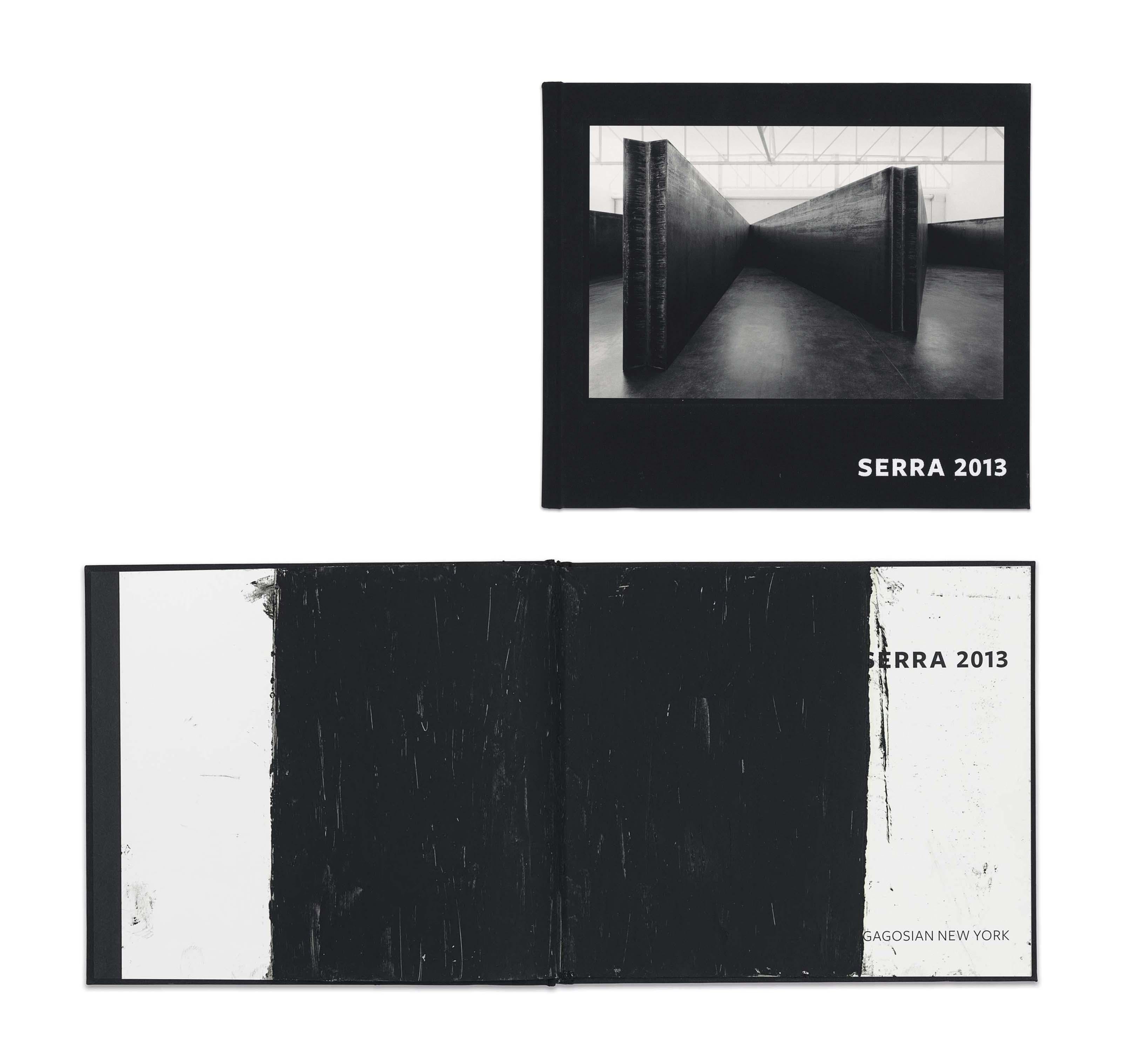Serra, Richard (b. 1939). Serra 2013. New York: Rizzoli/Gagosian, 2014. 11 1/4 x 9 3/4 x in. Oilstick on printed book.