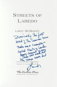 McMURTRY, Larry (b. 1936). Lon