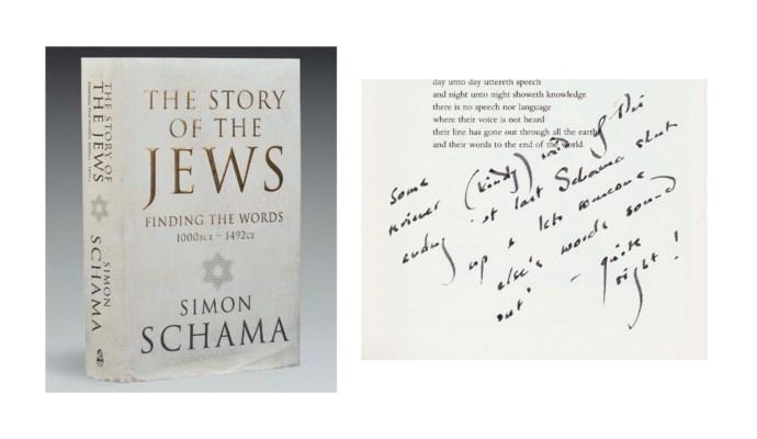 SCHAMA, Simon (b. 1945). The S