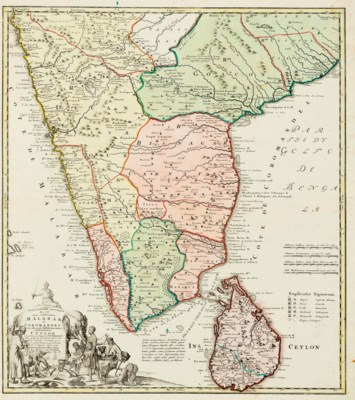 [INDIA]. A group of 4 maps on