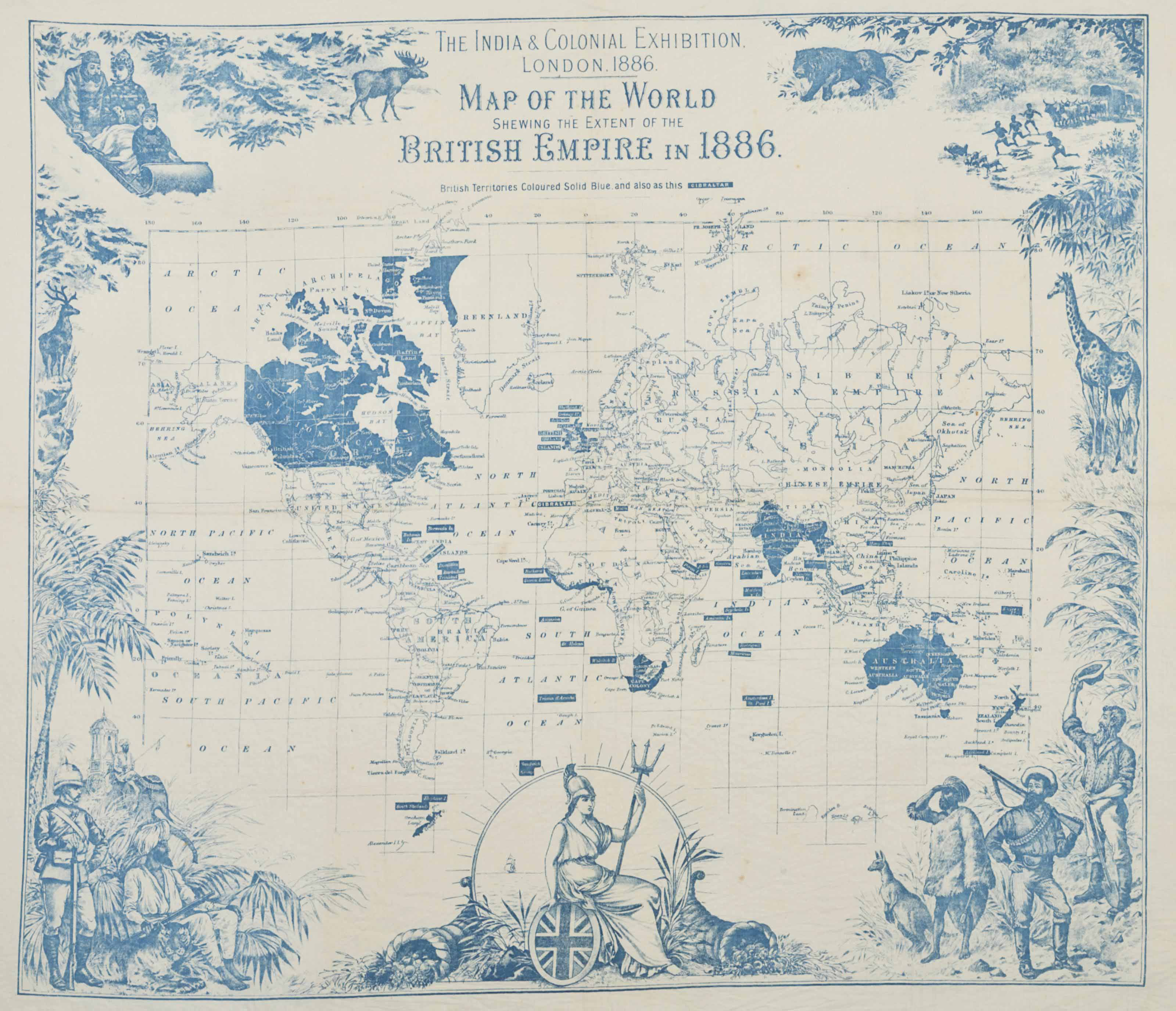 The india colonial exhibition london 1886 map of the world lot 170 gumiabroncs Image collections