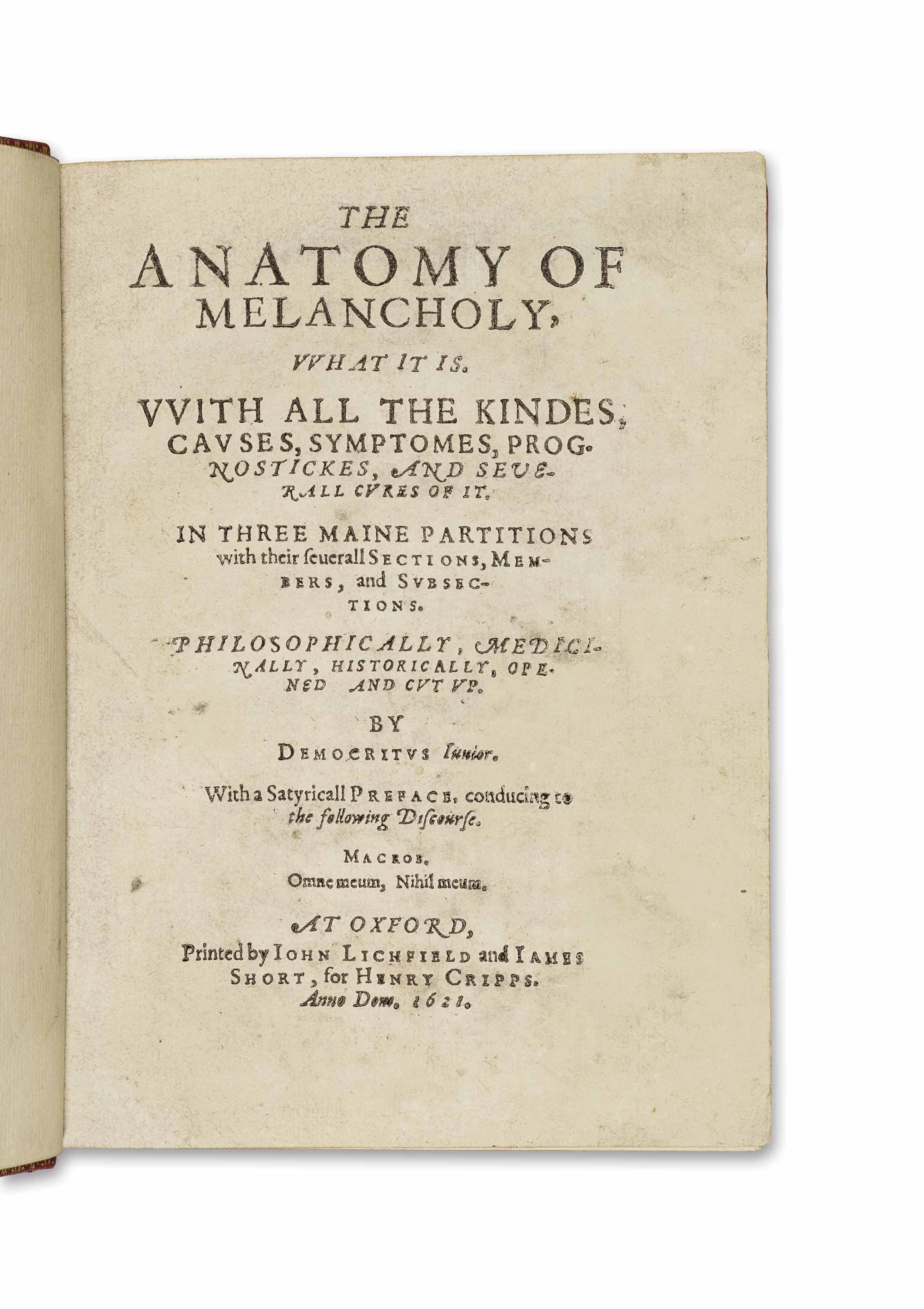 Burton The Anatomy Of Melancholy Gallery - human body anatomy