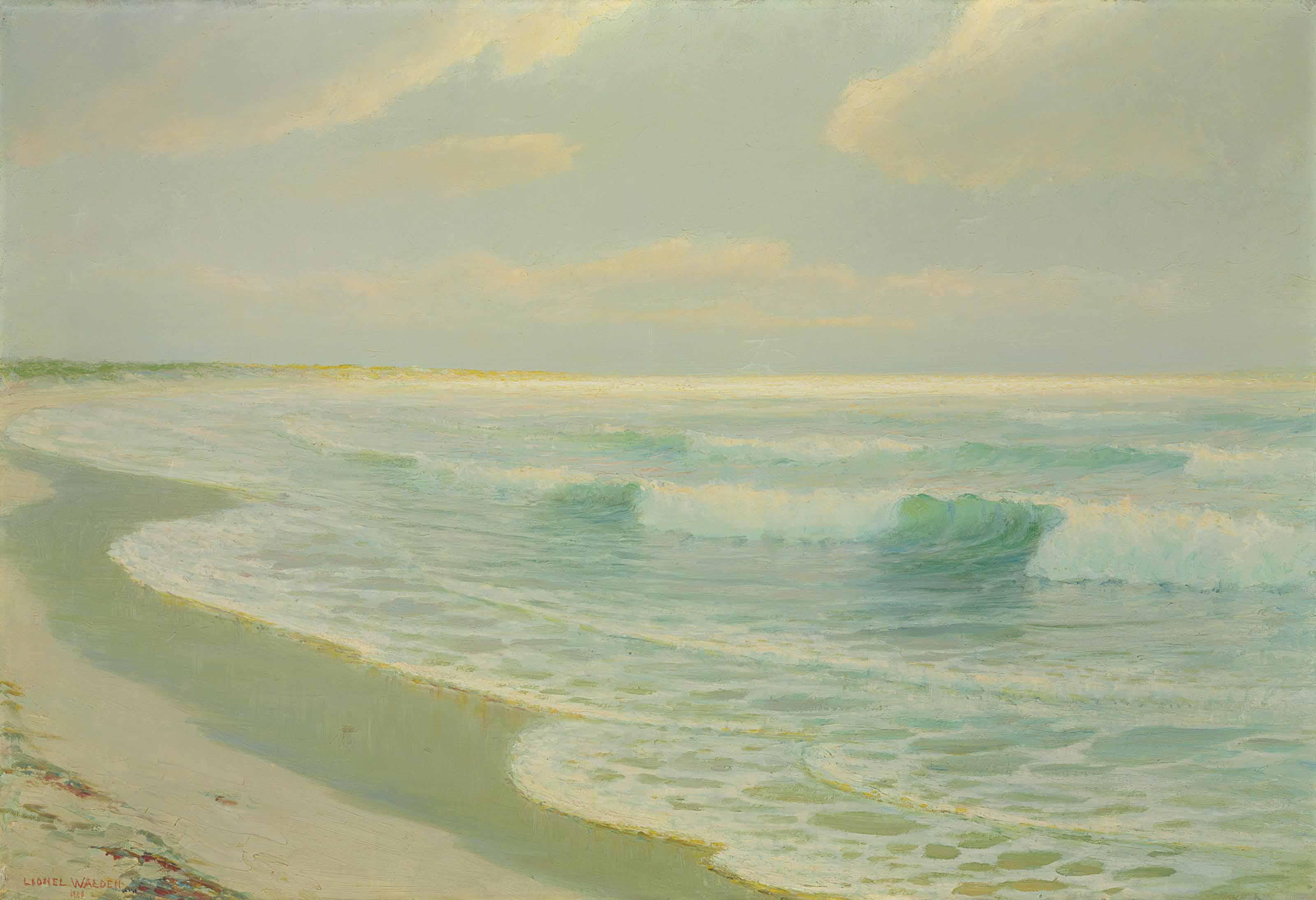 Quiet Sea Coming to Hawaiian Shore