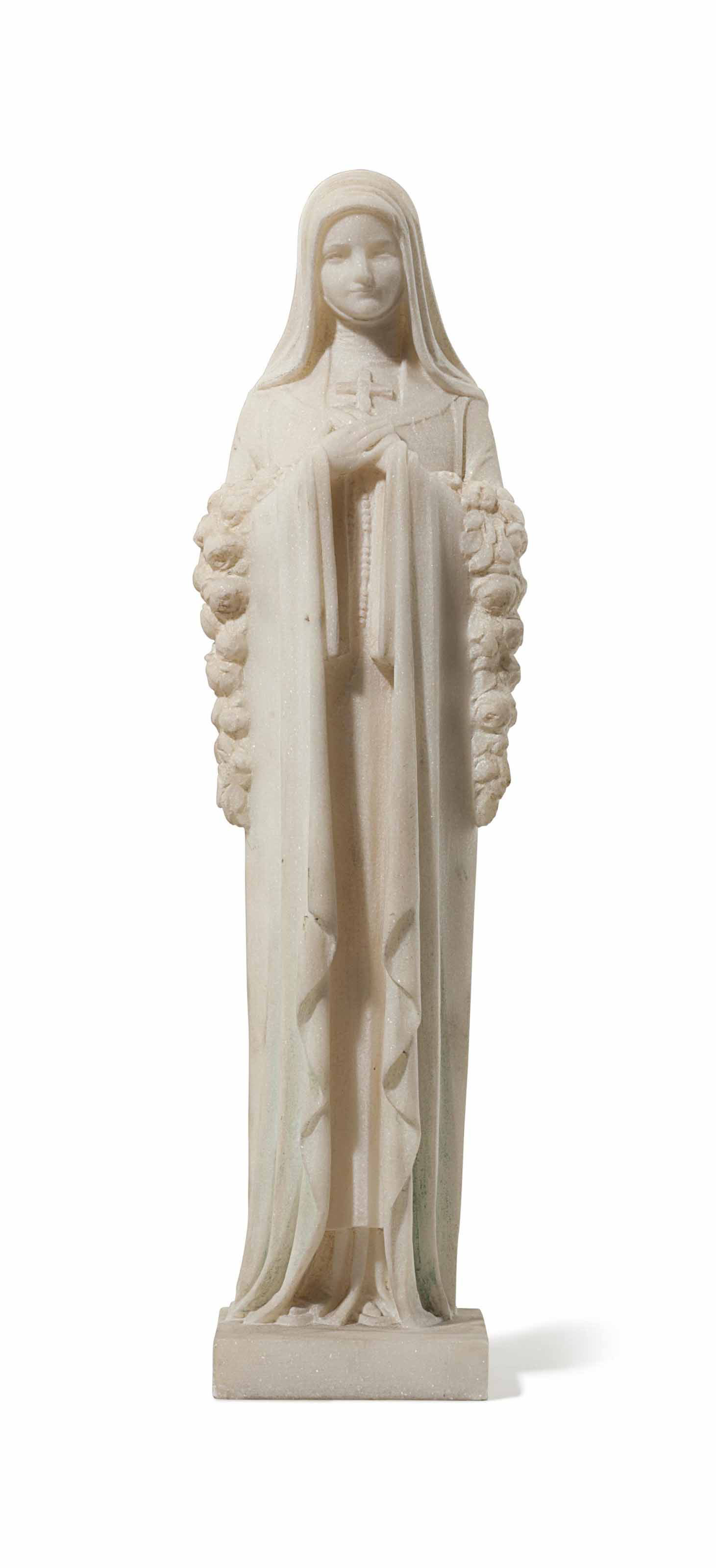 The Virgin Mary, standing