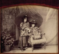 Lorina and Alice Liddell in Chinese Costume, c. 1860