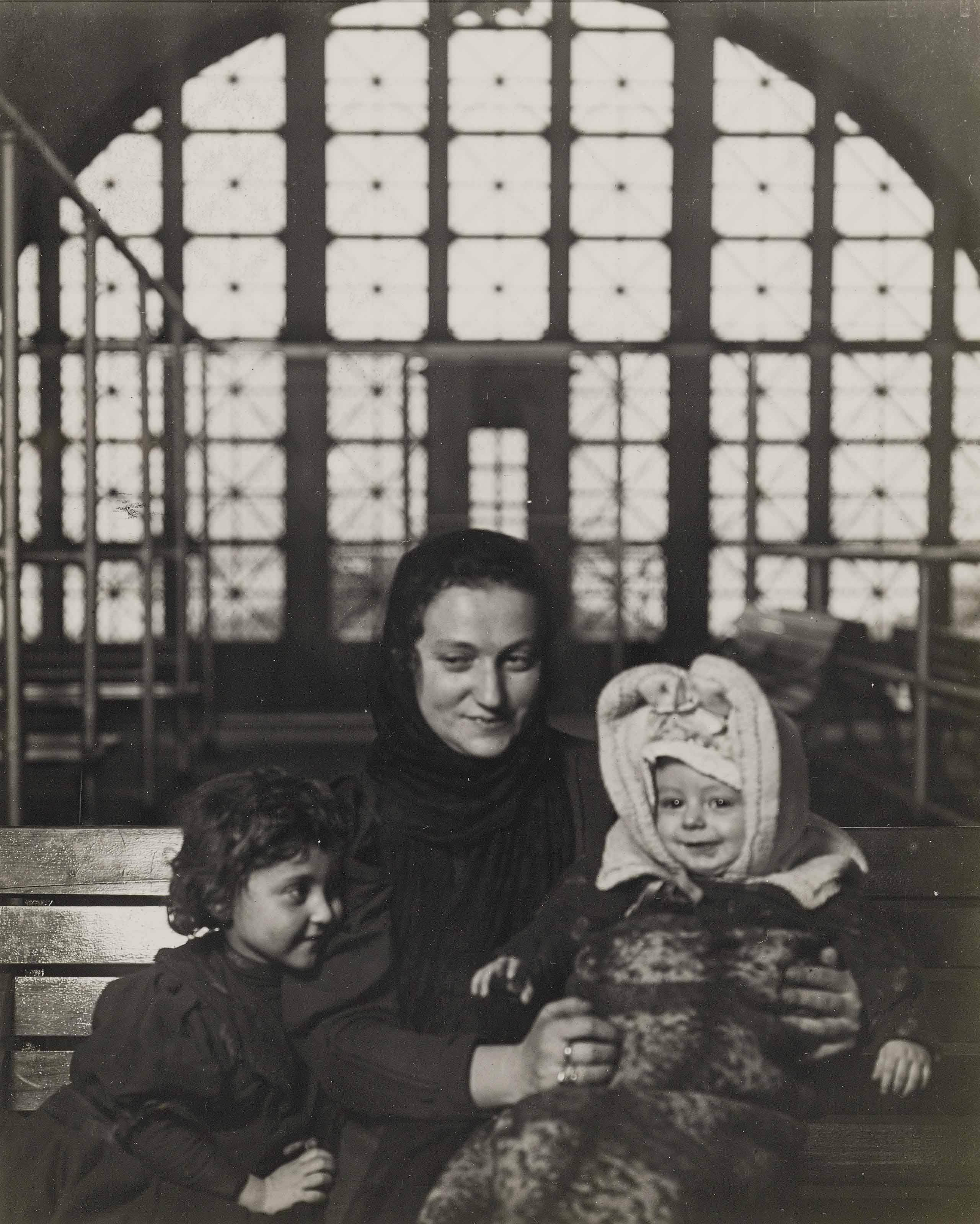 An Ellis Island Madonna (Russian family), c. 1905