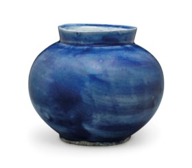 A Blue-glazed Porcelain Jar
