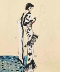 Mannequin portant une robe Schiaparelli