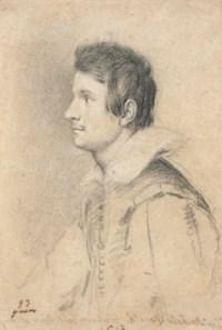 Portrait de jeune homme en buste, probablement Annibale Monaldi