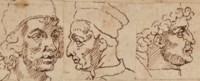 Trois portraits d'artistes de la Renaissance italienne, d'après Les Vies de Giorgio Vasari