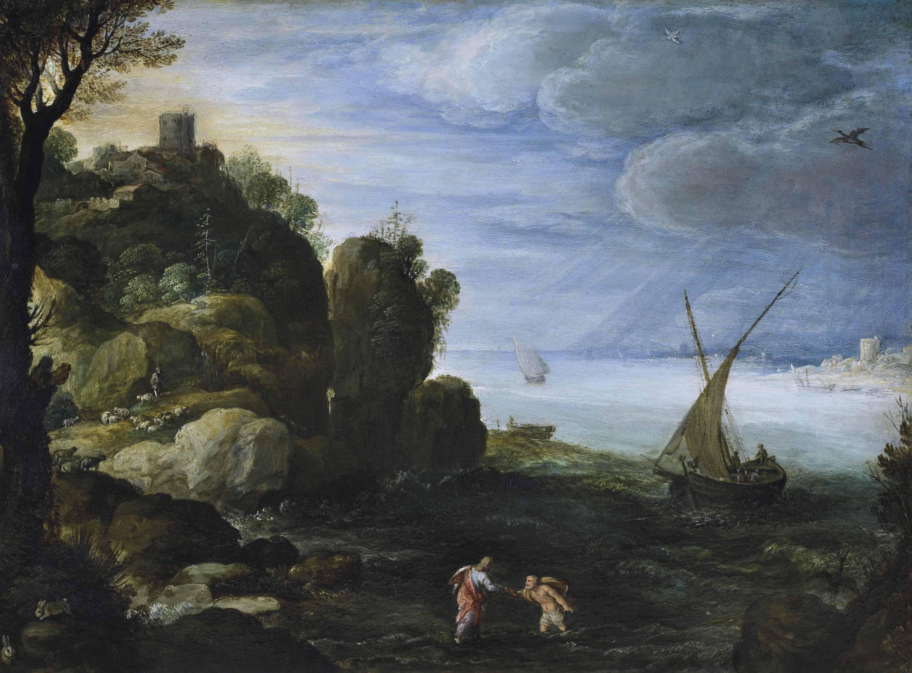 Le Christ et saint Pierre marchant sur les eaux