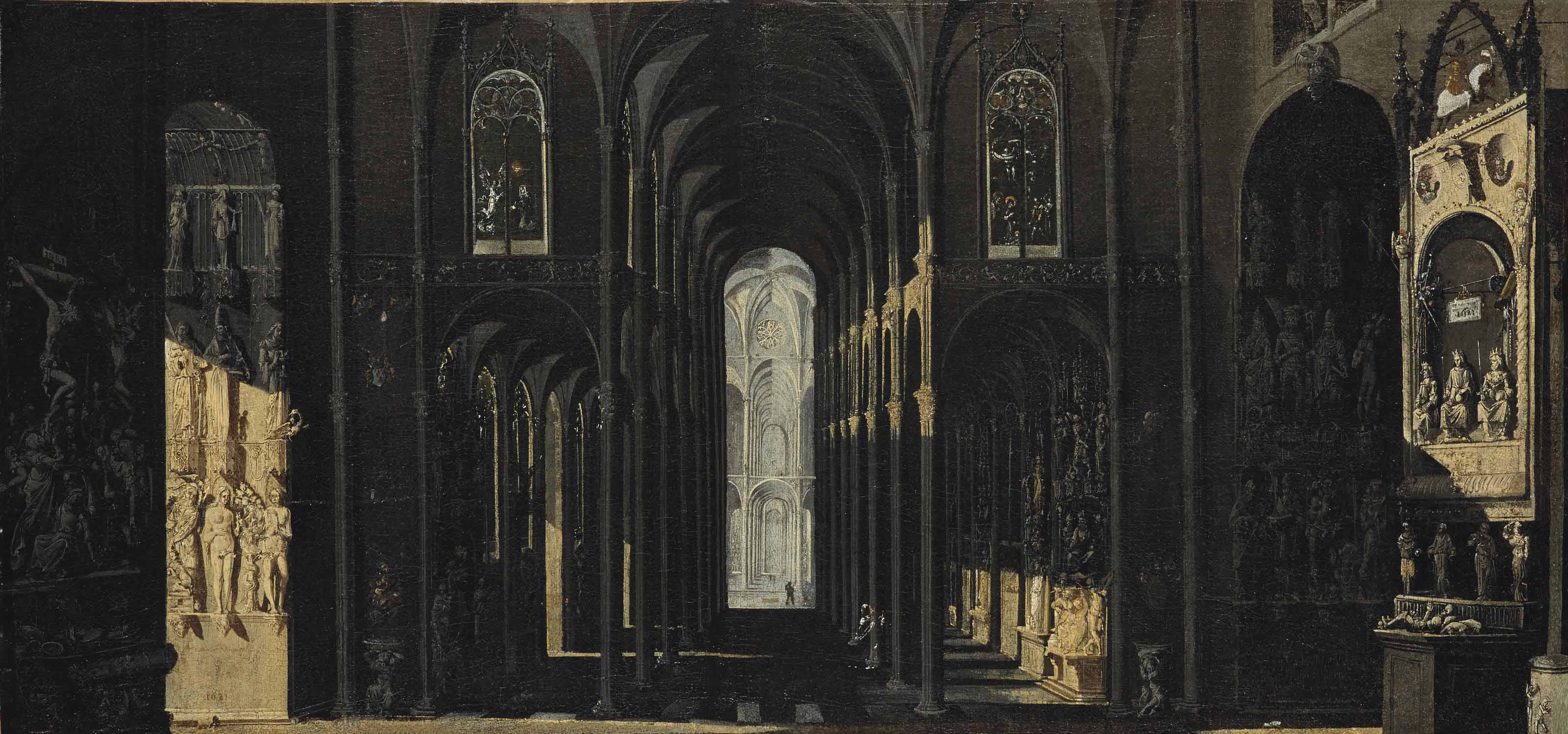 Architecture de fantaisie: un intérieur d'église