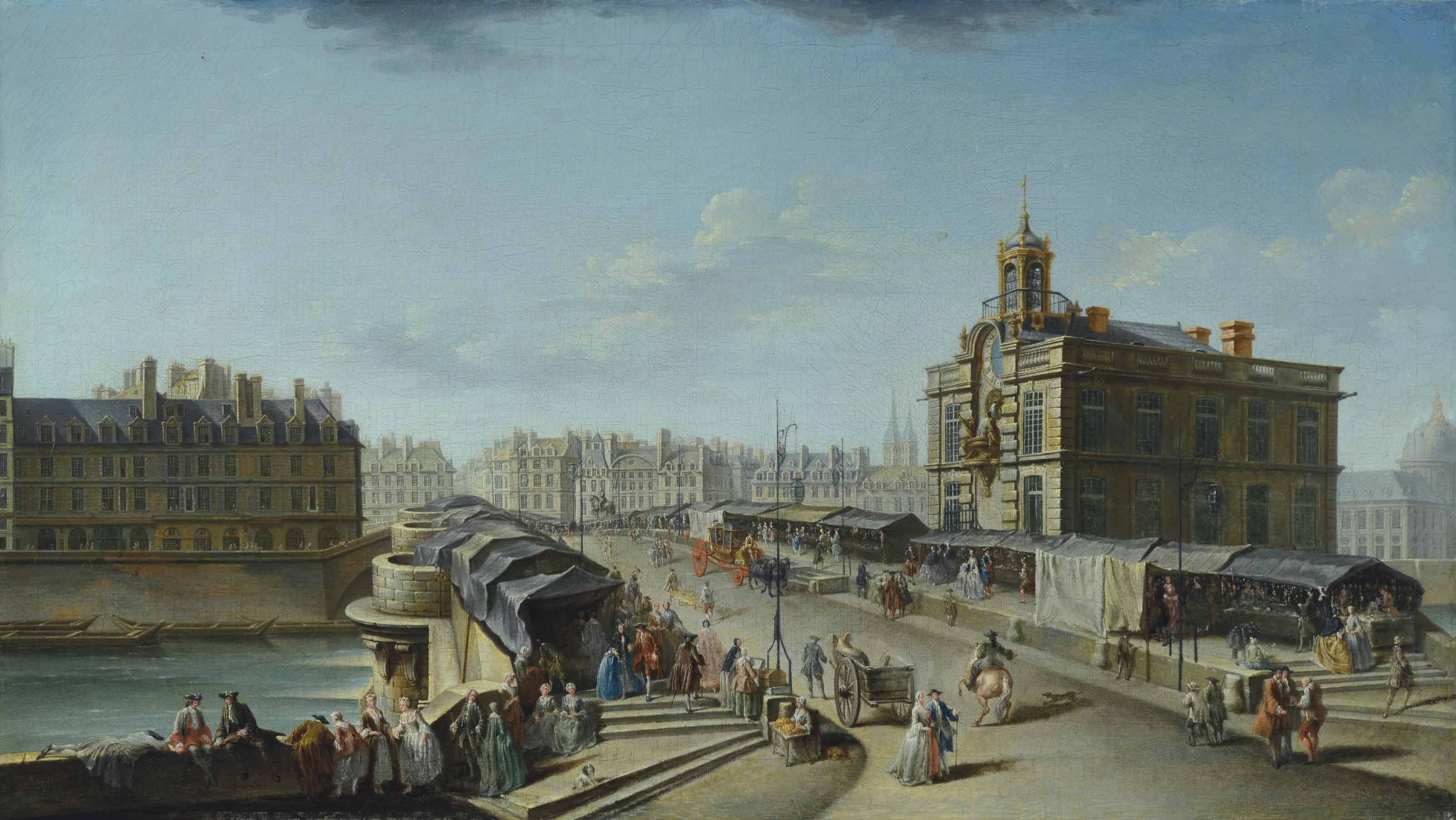 La fontaine de la Samaritaine et le Pont Neuf
