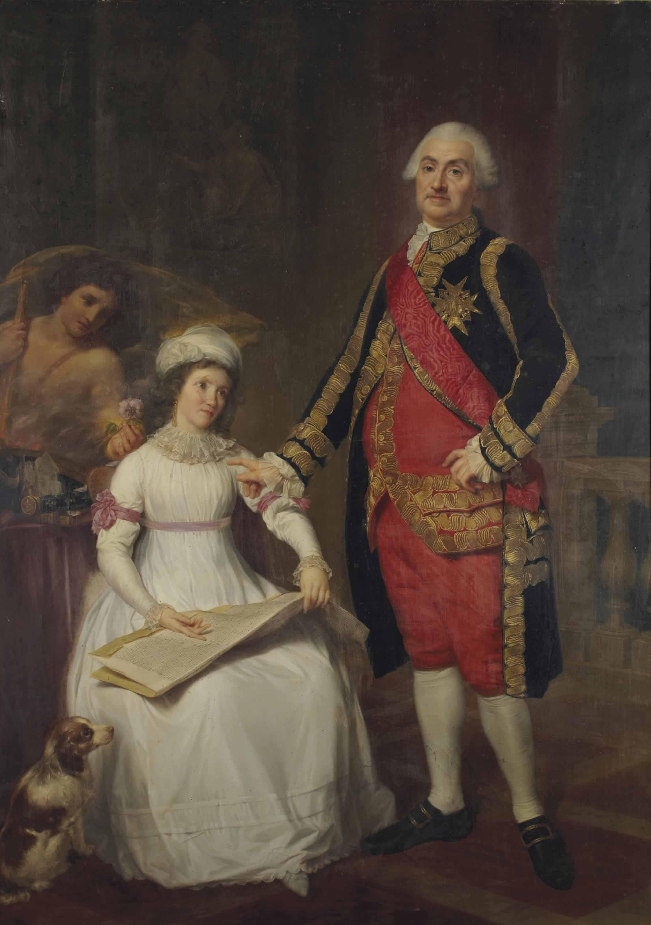 Portrait du maréchal Jourda de Vaux et de sa fille