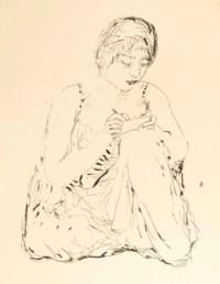 [BONNARD] -- VOLLARD, Ambroise (1866-1939). Sainte Monique. Paris: Ambroise Vollard, 30 novembre 1930. In-4 (330 x 250 mm). Illustrations de Pierre Bonnard, dont 29 lithographies hors texte, 17 eaux-fortes (dont 14 non utilisées et 3 servant de table des gravures) et 178 bois dans le texte dont la vignette de couverture, la vignette de titre et 37 bois refusés. En feuilles, couverture imprimée, étui moderne.