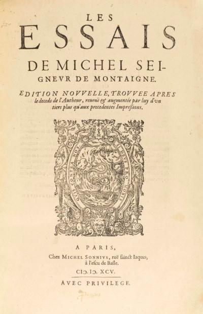 MONTAIGNE, Michel Eyquem de (1